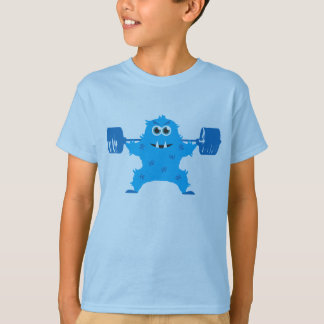 Beast Mode - Cute Monster Lifting Weights T-Shirt