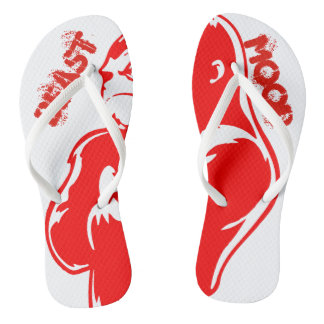 Beast Mood Red Gorilla Pair of Flip Flops