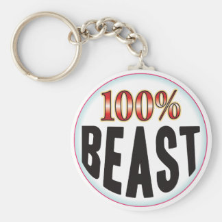 Beast Tag Basic Round Button Key Ring