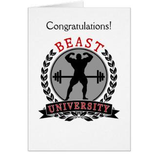Beast University Bodybuilding Congratulations Card