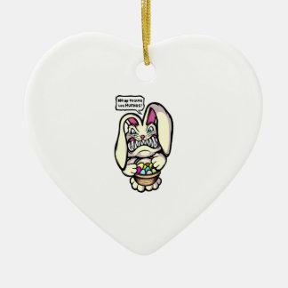 Beaster Bunny Ceramic Heart Decoration