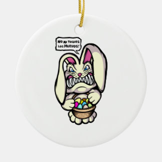 Beaster Bunny Round Ceramic Decoration