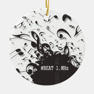 #beat1.MHz Round Ceramic Decoration