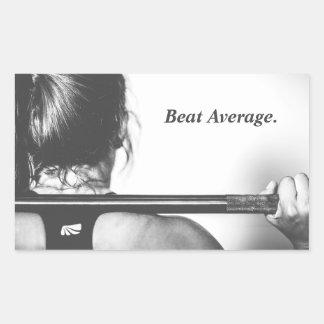 Beat Average Rectangular Sticker