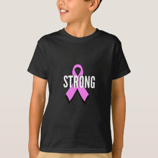 Beat Cancer- Strong Breast Cancer Pink Ribbon T-Shirt