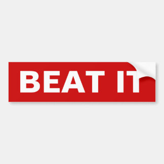 Beat It Bumper Sticker 1980's