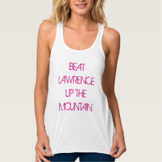 Beat Lawrence Up The Mountain Flowy Racerback Tank Top