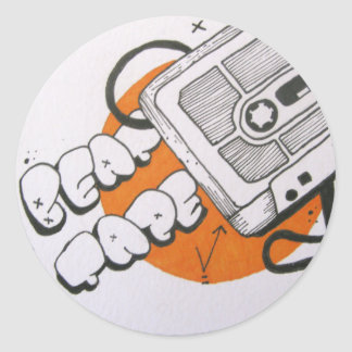Beat tape sticker