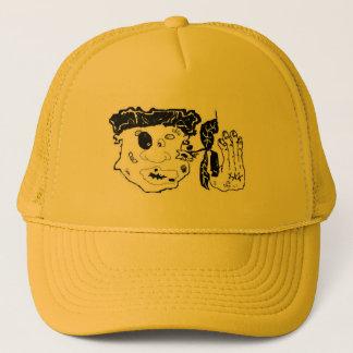 beat up graphic art cap