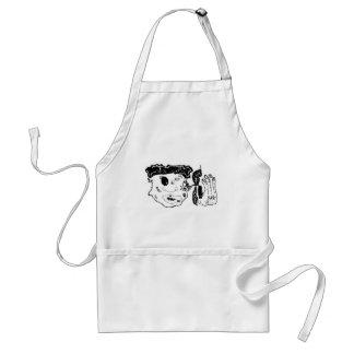beat up graphic art standard apron