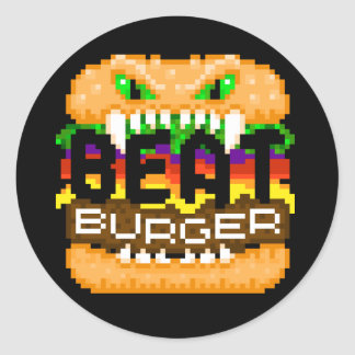 Beatburger Bites Back Monster Logo Sticker