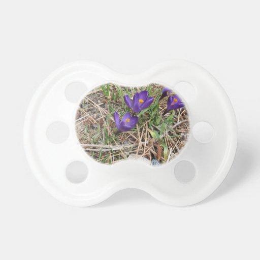 Beatiful Purple Mountain Iris 2 Pacifier