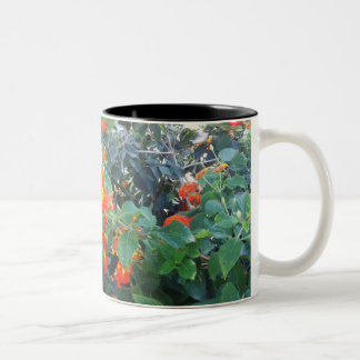 beatiful yellow flowera Black 325 ml Two-Tone Mug