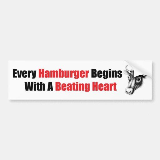 Beating Heart Bumper Sticker