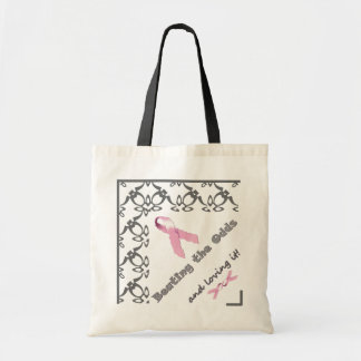 Beating the Odds and loving it! Pink Ribbon Tote Budget Tote Bag
