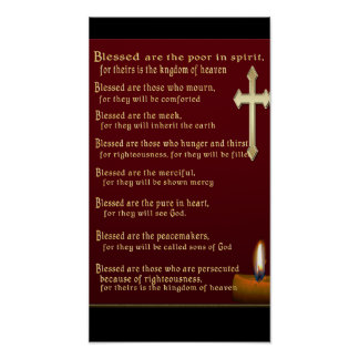 Beatitudes Christian gifts Print