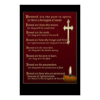 Beatitudes Christian gifts Poster