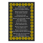 Beatitudes in an Dandelion Frame Poster