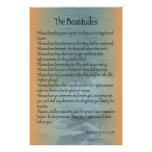 Beatitudes Poster (Sanibel Surf)