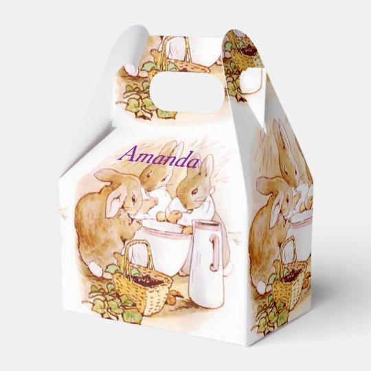 Beatrix Potter, Custom Birthday, Easter Favour Box