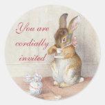 Beatrix Potter Custom Bunny Rabbit Stickers