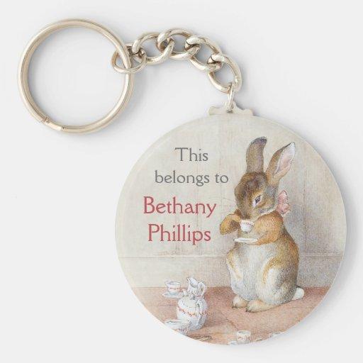 Beatrix Potter Custom Personalized Key Chain