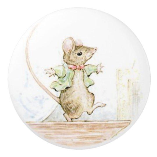 Beatrix Potter, Cute Mouse, Ceramic Knob