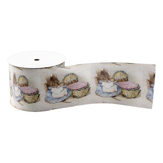 Beatrix Potter, Momma Mouse, Babies, Custom Grosgrain Ribbon