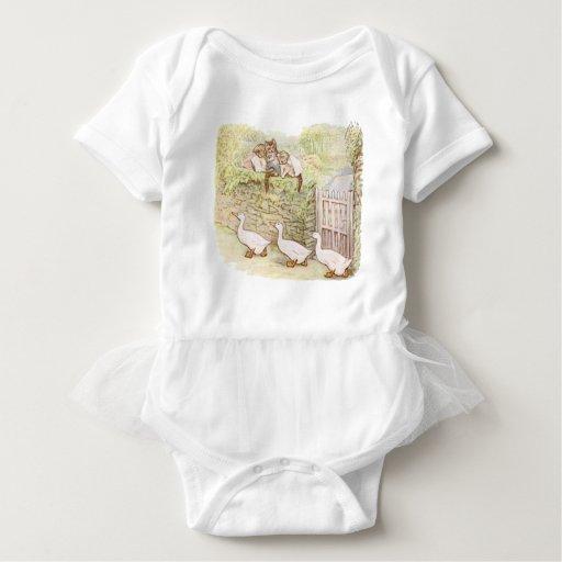 Beatrix Potter, Tom Kitten, Jemima Puddle Duck Baby Bodysuit