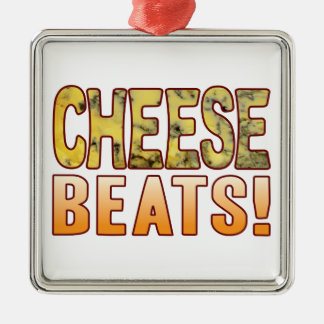 Beats Blue Cheese Silver-Colored Square Decoration