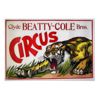 Beatty Cole Circus Poster