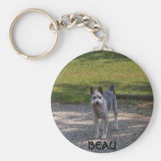 Beau Basic Round Button Key Ring