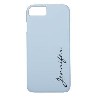 Beau blue color background iPhone 7 case