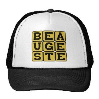 Beau Geste, Noble Gesture Latin Phrase Mesh Hats