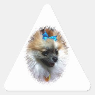 Beau-Nanna Blue Bow Triangle Sticker