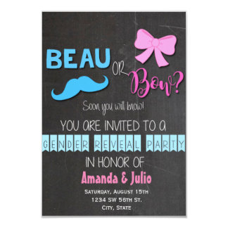 Beau or Bow Gender Reveal Card