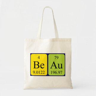 Beau periodic table name tote bag