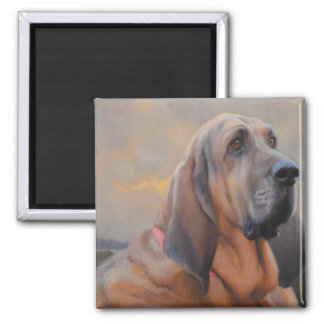 Beau The Blood Hound Refrigerator Magnet