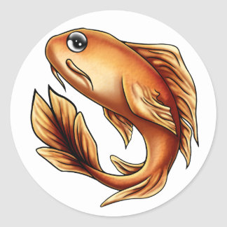 Beau the Butterfly Koi Sticker Round
