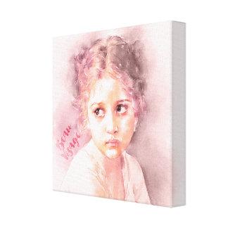 Beau Visage-Beautiful Face Young Girl Canvas Print