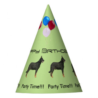 Beauceron Birthday Party Hat