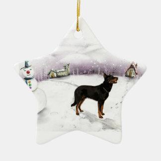 Beauceron Christmas ornament