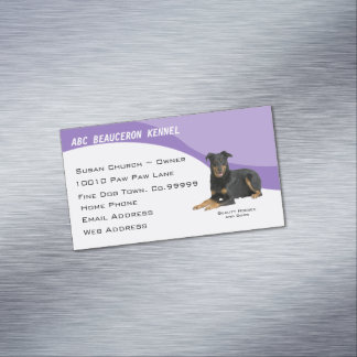 Beauceron Custom Refrigator Magnetic, Profile Card Magnetic Business Cards