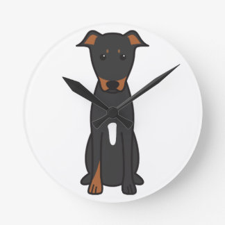 Beauceron Dog Cartoon Round Clock