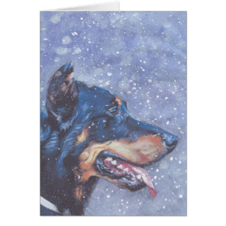 Beauceron Dog Christmas Card