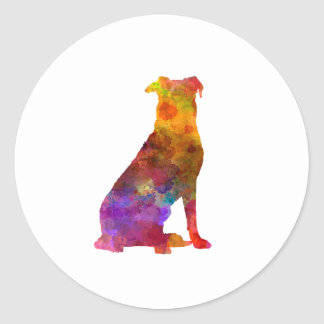 Beauceron in watercolor classic round sticker