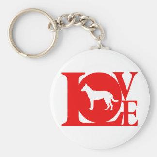 Beauceron Key Ring