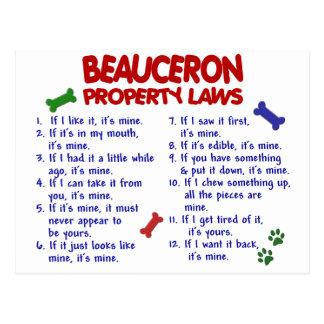 BEAUCERON Property Laws 2 Postcard