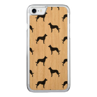 Beauceron Silhouettes Pattern Carved iPhone 8/7 Case