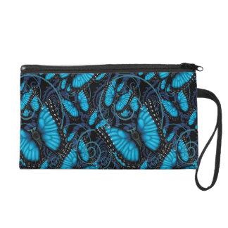 Beaucoup Blue Morpho Butterflies Wristlet